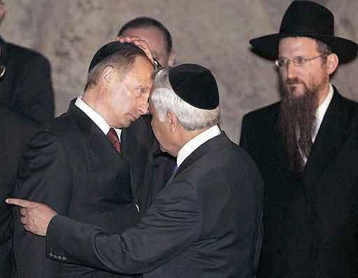 """Путин с """"Сионскими мудрецами"""" Хабада, благословляющими его на подвиги во имя """"нашего народа"""""""