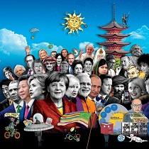 Обложка журнала The Economist, заполненная оккультными предсказаниями на 2016 год