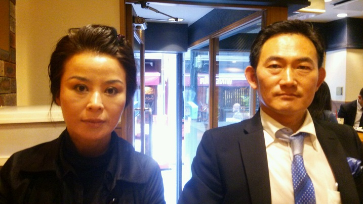 Kim Young Hee and Zhang Sheng Zhi