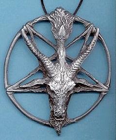 Baphomet pentagram broch