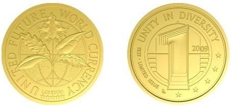 """Монета """"Объединенной Будущей Мировой Валюты"""""""
