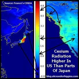 Модель радиоактивного загрязнения по данным французского исследовательского центра CEREA