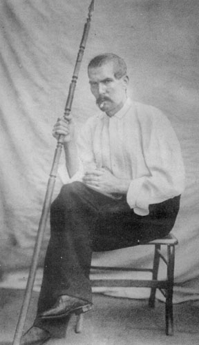 Sir Richard Francis Burton in his tent in Africa