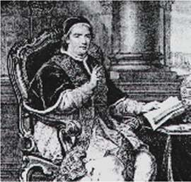 Cardinal Gan-ganelli, who later became a Pope