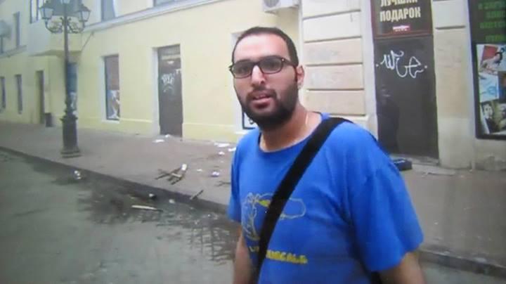 Активист сил самообороны в Славянске