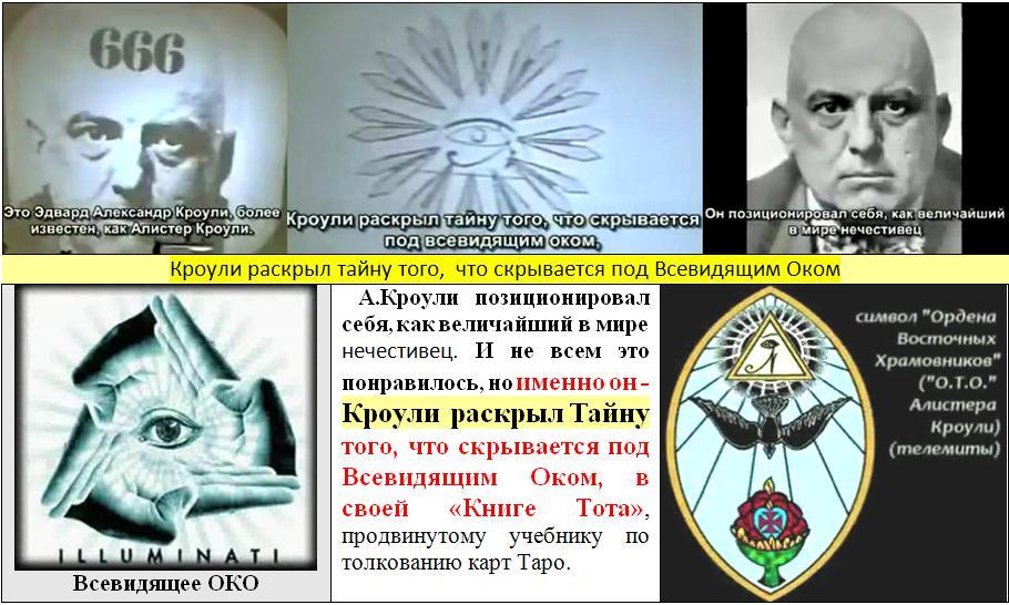 Кроули раскрыл тайну того, что скрывается под символом Всевидящего Ока