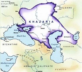 Map of Khazaria - Invisible Khazaria by Tatyana Gracheva