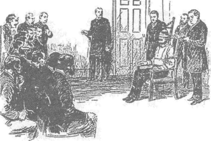Рисунок времен войны токов: первая казнь на электрическом стуле