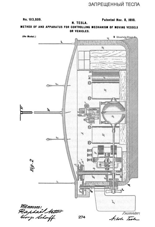 Никола Тесла - «Метод и аппаратура для контроля механизмов и движущихся средств»