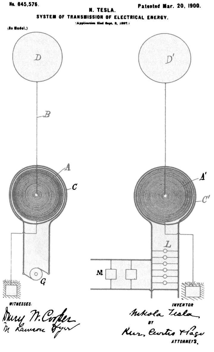 Никола Тесла - Система передачи электрической энергии