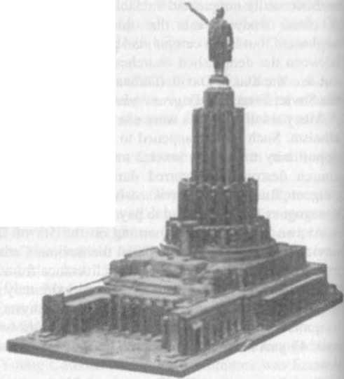 Lazar Kaganovich and Stalin - Plans for the Palace of the Soviets (or the Kahal Castle)
