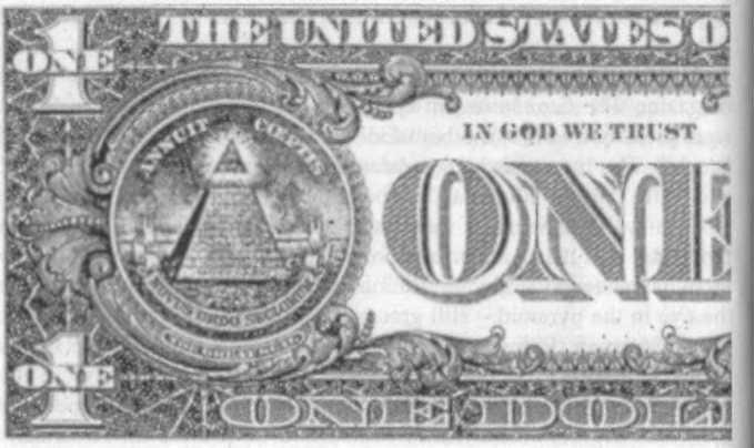 Иллюминатская символика на однодолларовой купюре США