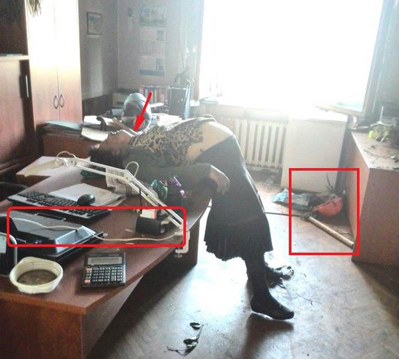 Износилованная беременная женщина, убитая майданутыми СиоНацистскими сатанистами, косящими под укро-нацистов
